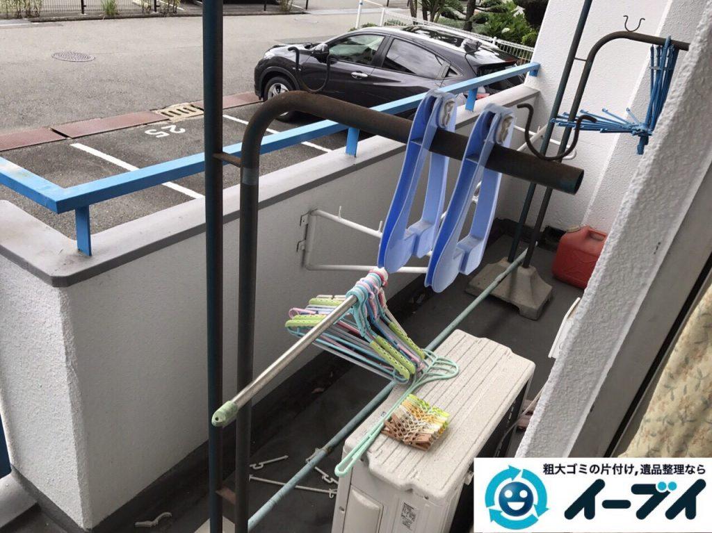 2017年8月28日大阪府大阪市港区で引越し後の布団や物干し竿など粗大ゴミの不用品回収をしました。写真2