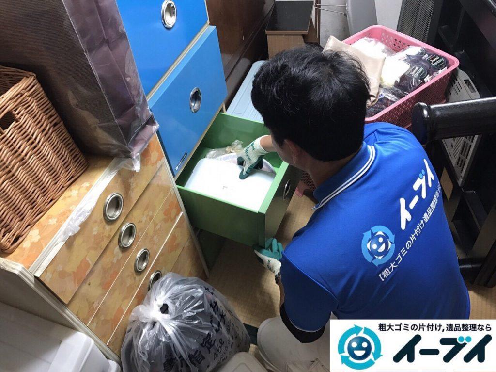 2017年9月3日大阪府大阪市大正区で遺品整理に伴い婚礼家具や粗大ゴミの処分と遺品処分をしました。写真1