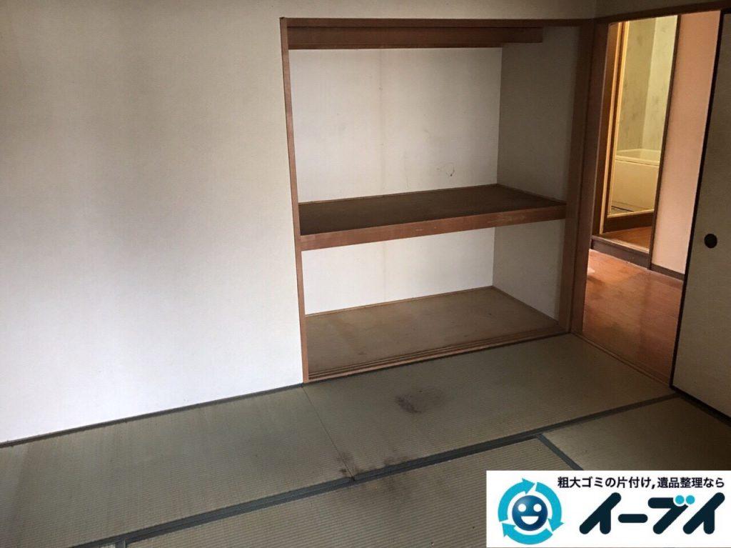 2017年8月24日大阪府交野市で遺品整理に伴いタンスや婚礼家具や生活用品の処分をしました。写真5