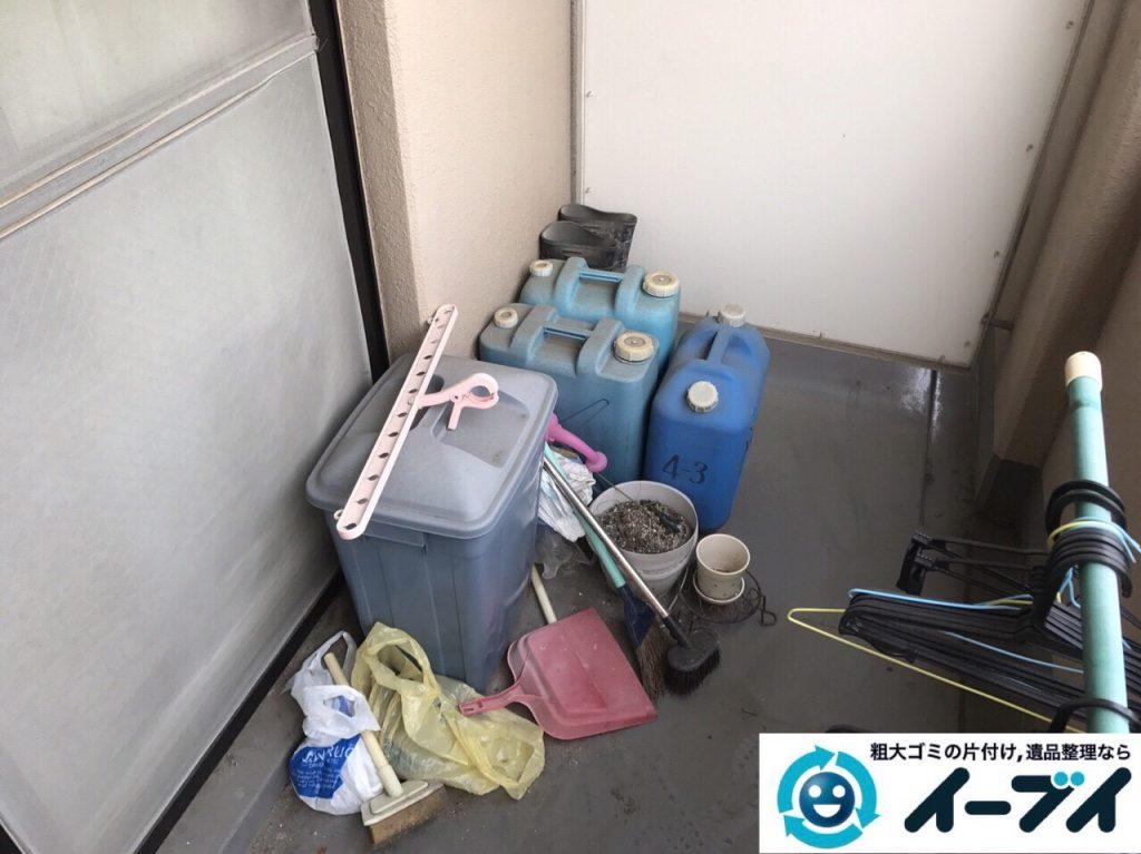 2017年8月24日大阪府交野市で遺品整理に伴いタンスや婚礼家具や生活用品の処分をしました。写真2