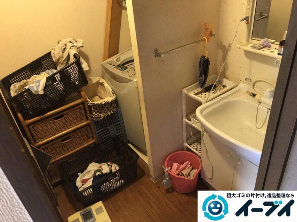 2017年8月23日大阪府交野市で引越し後の部屋の粗大ゴミの残置物の不用品回収。写真6