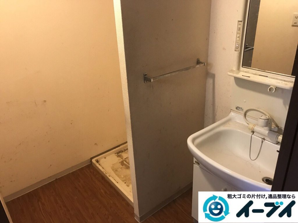 2017年8月23日大阪府交野市で引越し後の部屋の粗大ゴミの残置物の不用品回収。写真5