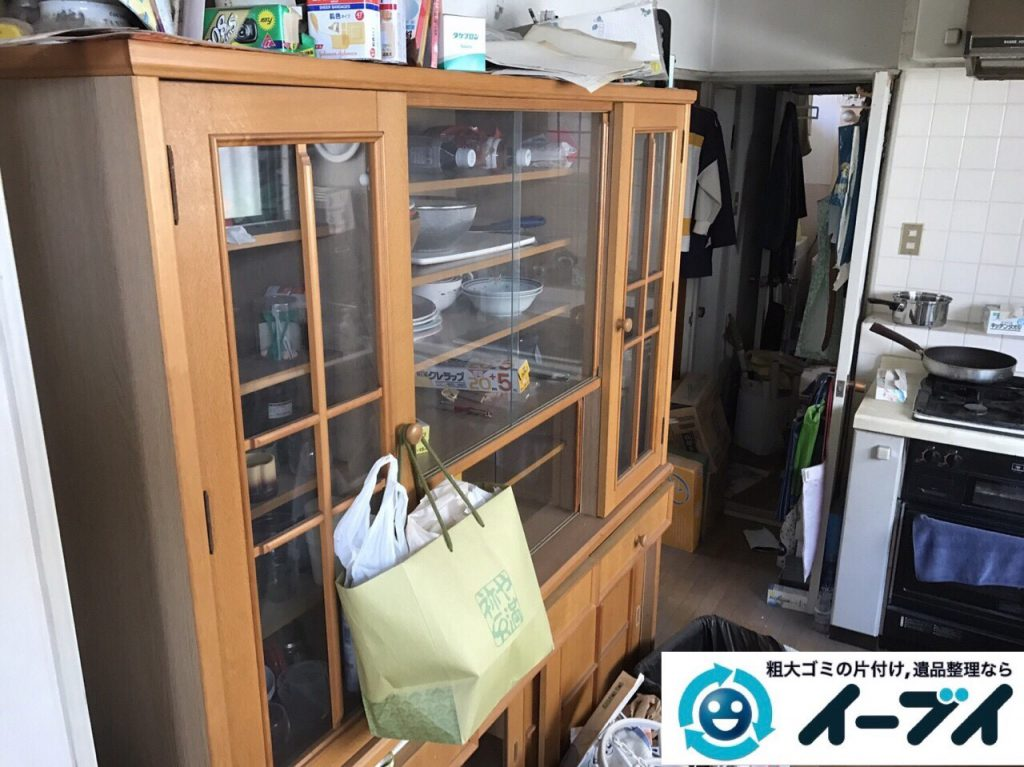 2017年8月13日大阪府枚方市で遺品整理に伴い食器棚や生活用品の処分をしました。写真3