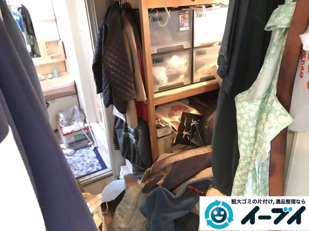 2017年8月8日大阪府島本町で物置部屋の廃品や衣装ケース等の粗大ゴミの不用品回収をしました。写真4