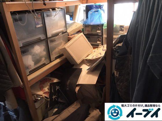 2017年8月8日大阪府島本町で物置部屋の廃品や衣装ケース等の粗大ゴミの不用品回収をしました。写真2