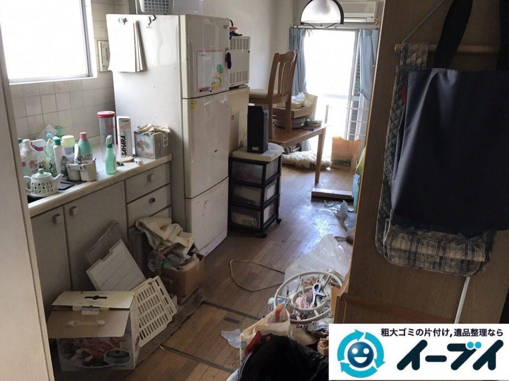 2017年8月13日大阪府枚方市で遺品整理に伴い食器棚や生活用品の処分をしました。写真7