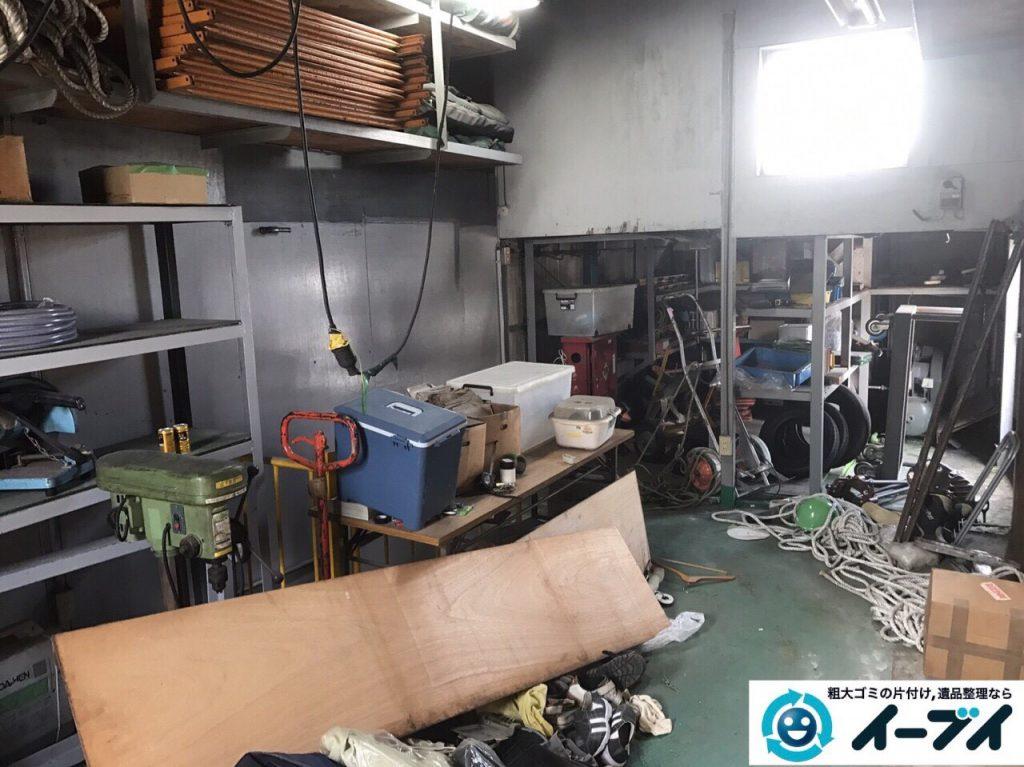 2017年8月31日大阪府大阪市住之江区で鉄工所の閉鎖に伴う廃品処分や不用品回収をしました。写真8