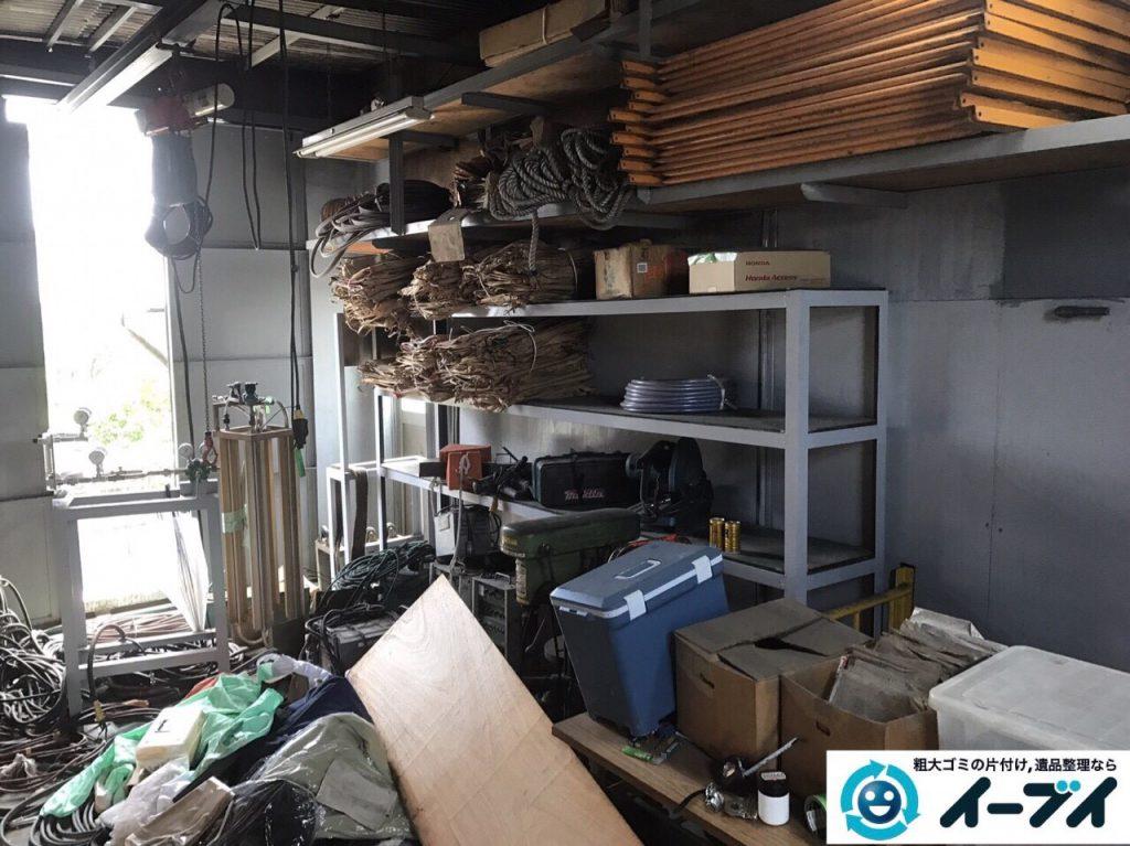 2017年8月31日大阪府大阪市住之江区で鉄工所の閉鎖に伴う廃品処分や不用品回収をしました。写真6