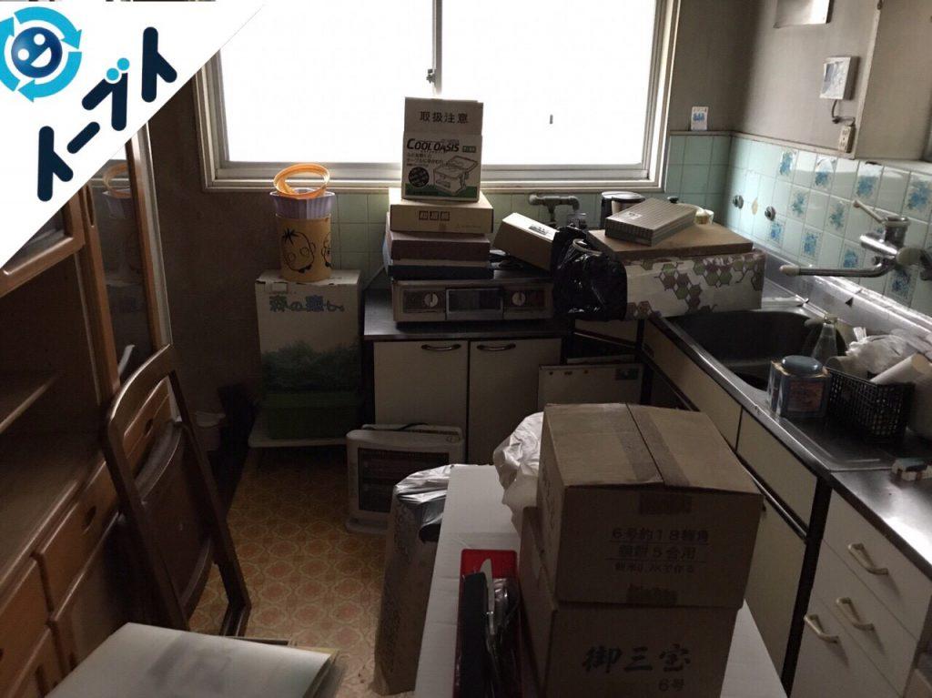 大阪府貝塚市で遺品整理に伴う家具や生活用品の処分をしました。写真2