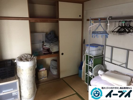 2017年9月21日大阪府羽曳野市でテーブルや布団等の粗大ゴミの不用品回収をしました。写真2