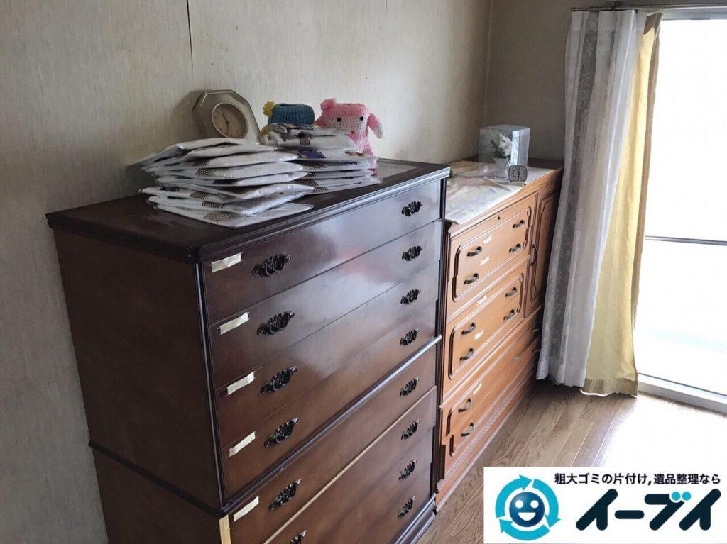 2017年9月6日大阪府大阪市大正区で和箪笥と洋タンスの家具処分と廃品の不用品回収をしました。写真5