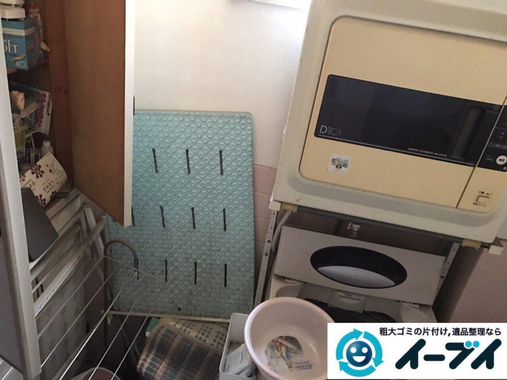 2017年9月15日大阪府大阪市福島区で引越し後の洗濯機や粗大ゴミの不用品回収をしました。写真4