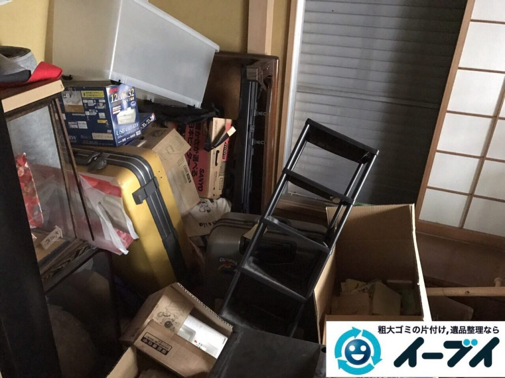 2017年9月24日大阪府羽曳野市で遺品整理に伴い部屋に散乱している生活用品の処分をしました。写真6