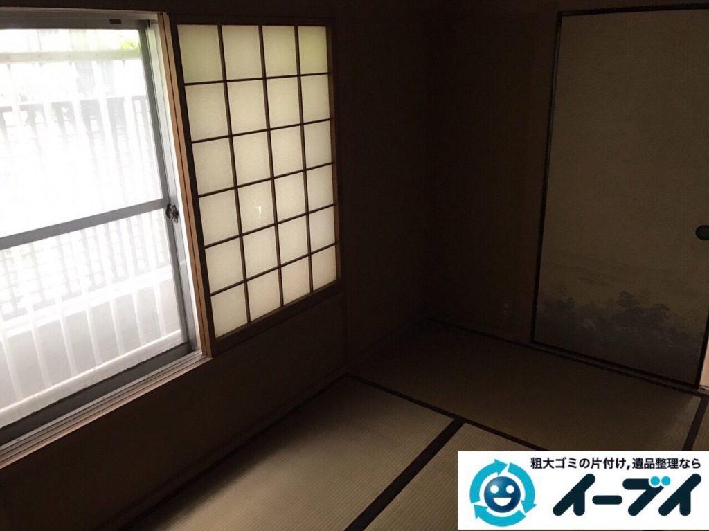 2017年9月24日大阪府羽曳野市で遺品整理に伴い部屋に散乱している生活用品の処分をしました。写真3