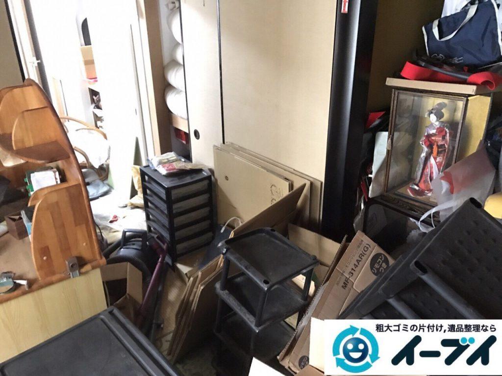 2017年9月24日大阪府羽曳野市で遺品整理に伴い部屋に散乱している生活用品の処分をしました。写真2