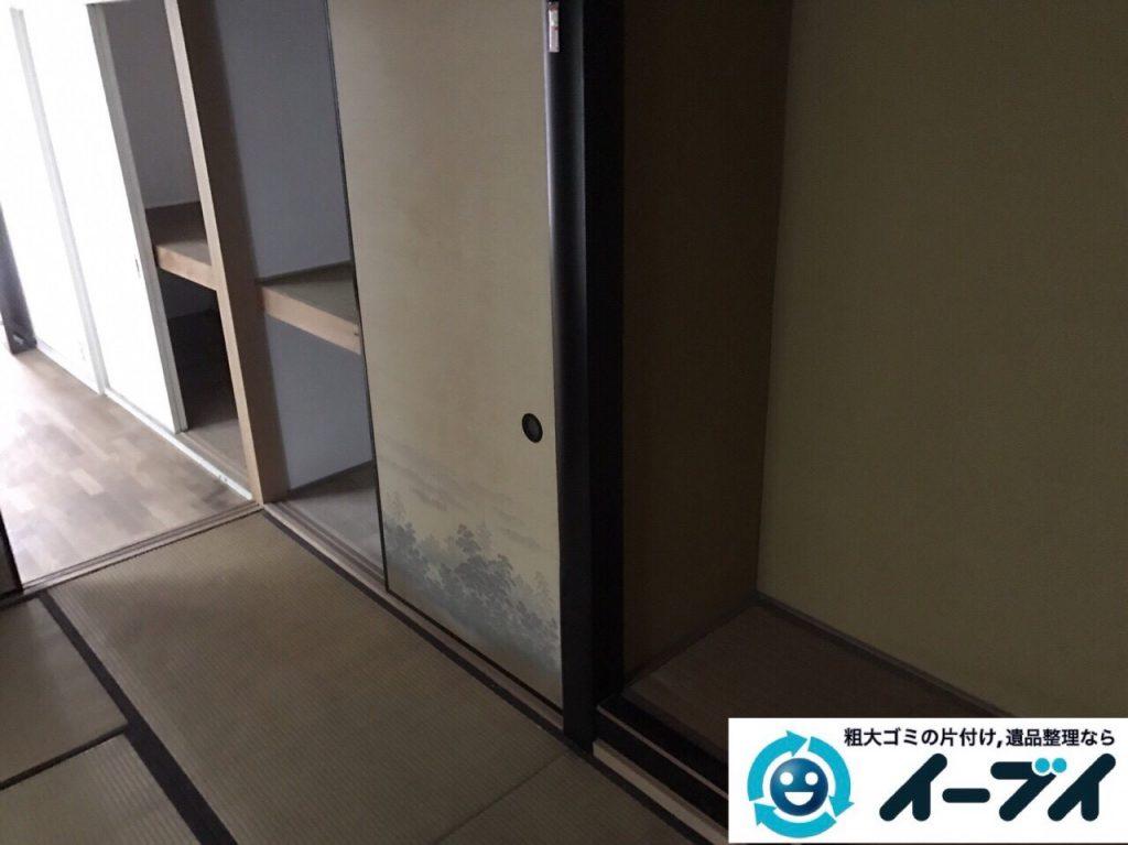 2017年9月24日大阪府羽曳野市で遺品整理に伴い部屋に散乱している生活用品の処分をしました。写真1