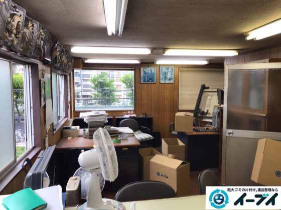 2017年9月12日大阪府大阪市東住吉区で事務所閉鎖に伴い事務用品や書棚などの不用品回収をしました。写真8