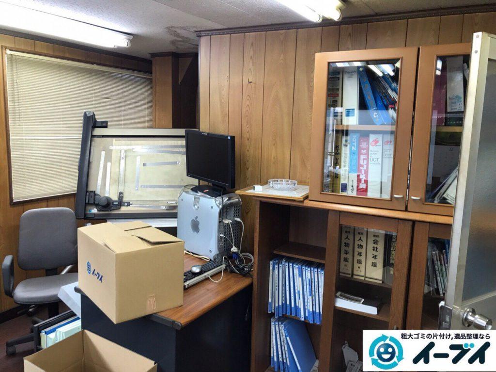 2017年9月12日大阪府大阪市東住吉区で事務所閉鎖に伴い事務用品や書棚などの不用品回収をしました。写真6