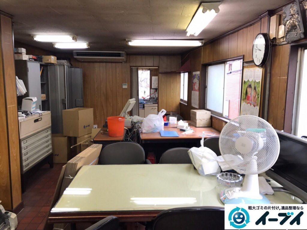 2017年9月12日大阪府大阪市東住吉区で事務所閉鎖に伴い事務用品や書棚などの不用品回収をしました。写真2