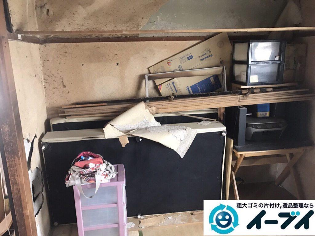 2017年9月18日大阪府茨木市で遺品整理に伴う家財道具の処分をしました。写真1