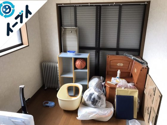 2017年10月9日大阪府堺市東区で部屋の断捨離に伴いベッドや健康器具の不用品回収をしました。写真2