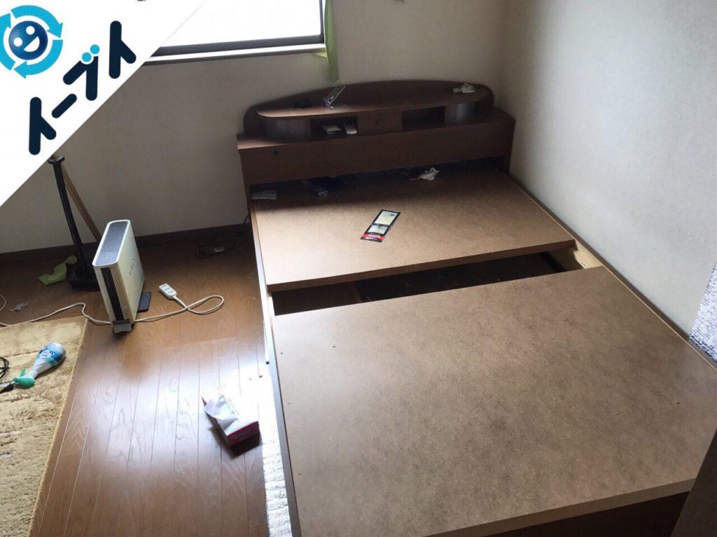 2017年10月9日大阪府堺市東区で部屋の断捨離に伴いベッドや健康器具の不用品回収をしました。写真6