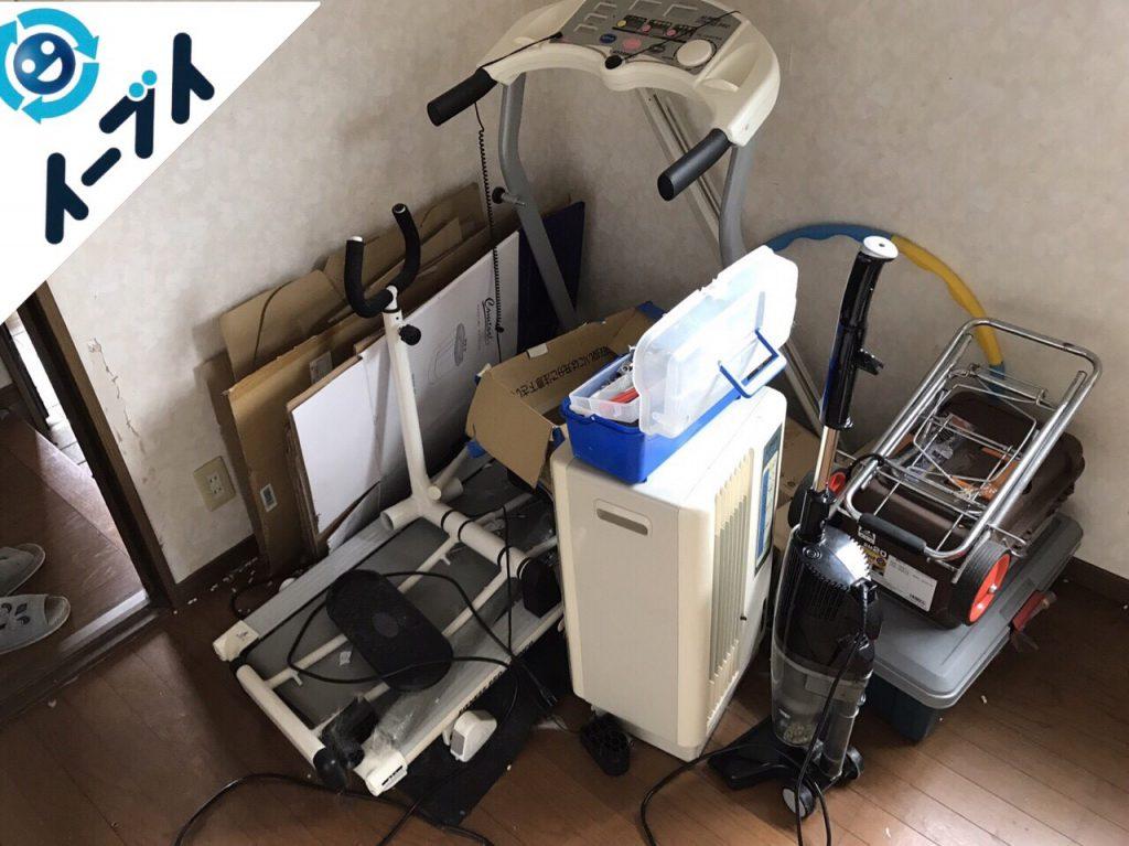 2017年10月9日大阪府堺市東区で部屋の断捨離に伴いベッドや健康器具の不用品回収をしました。写真4