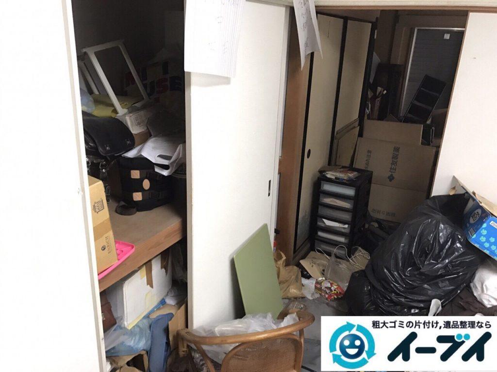 2017年10月21日大阪府泉佐野市で遺品整理に伴い家具処分や形見分けをしました。写真1
