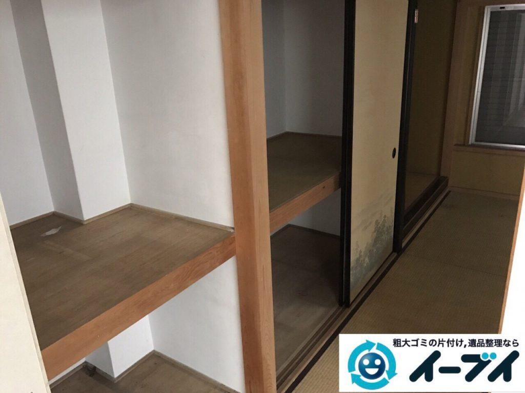 2017年10月21日大阪府泉佐野市で遺品整理に伴い家具処分や形見分けをしました。写真6