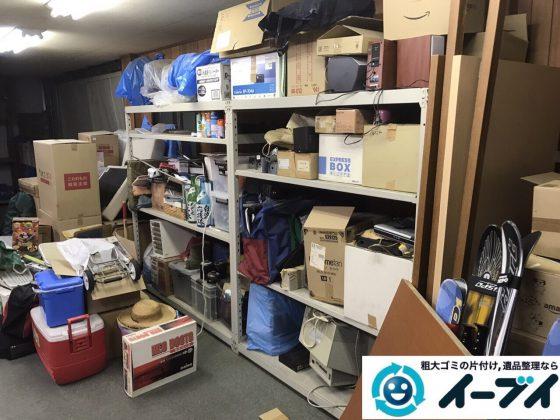 2017年11月2日大阪府藤井寺市で倉庫の廃品や粗大ゴミの片付けで不用品回収をしました。写真5