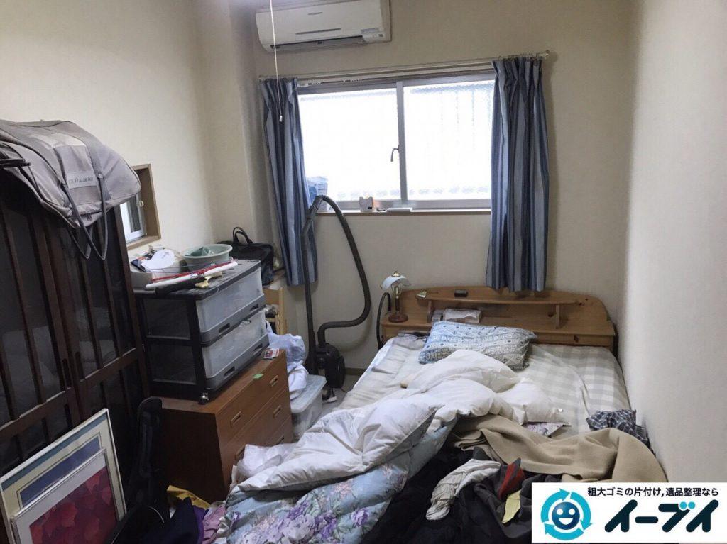 2017年10月6日大阪府堺市中区で引越し後の部屋の粗大ゴミやベッドの不用品回収をしました。写真1