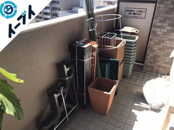 2017年10月27日大阪市天王寺区でベランダの植木鉢やガーデニング用品の不用品回収をしました。写真3