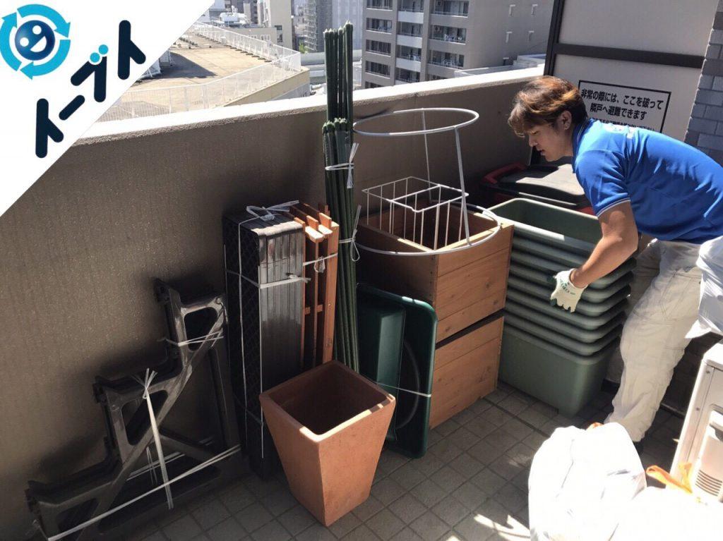 2017年10月27日大阪市天王寺区でベランダの植木鉢やガーデニング用品の不用品回収をしました。写真2