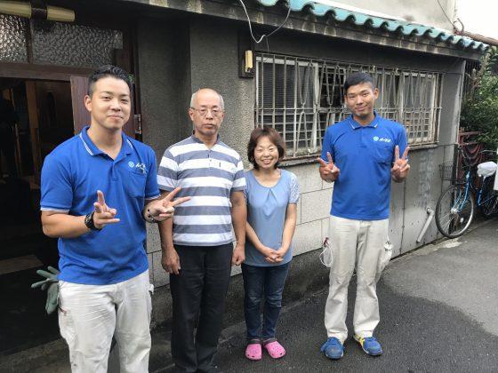 2017年10月2日大阪府大阪市城東区で遺品整理に伴う家財道具や生活用品を全て処分させていただきました。