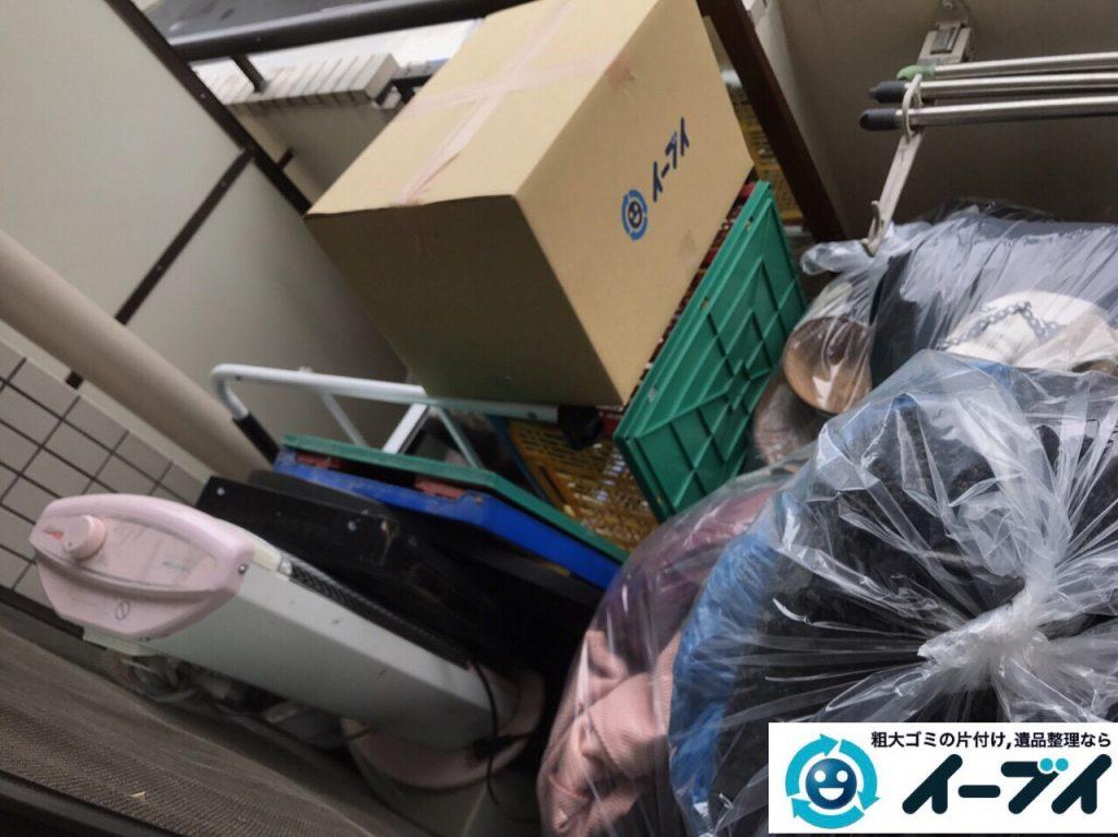 2017年11月14日大阪府寝屋川市で引越しゴミやベランダの粗大ゴミなど不用品回収をしました。写真7