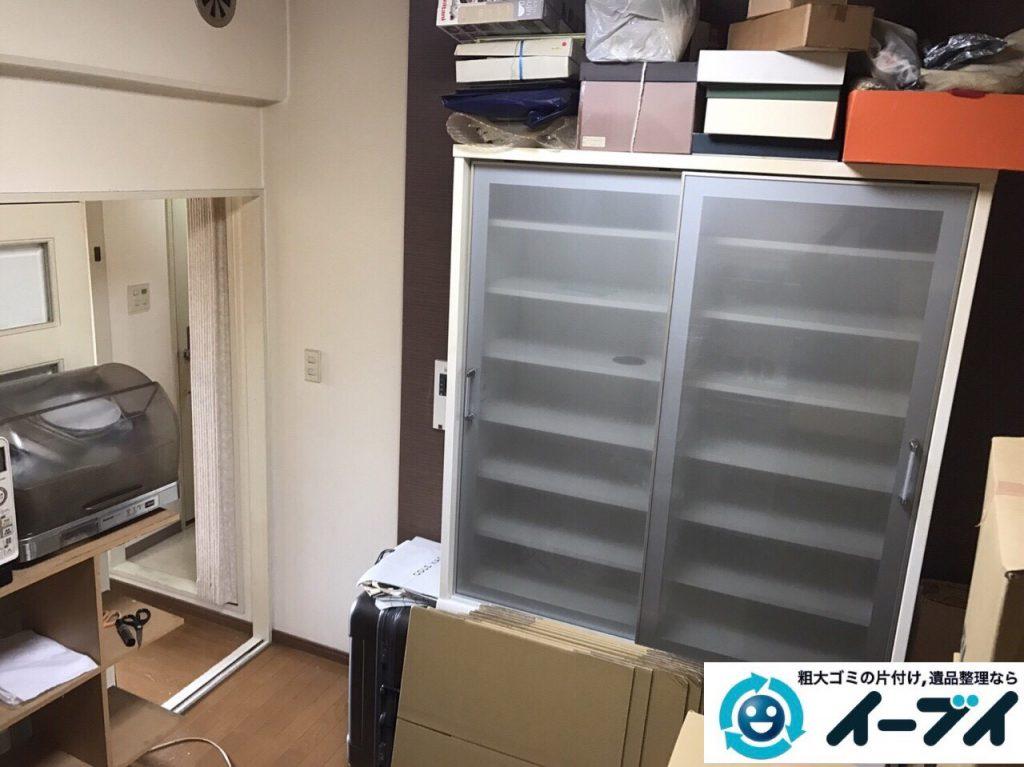 2017年11月27日大阪府大阪市生野区で食器棚や生活用品の粗大ゴミの不用品回収をしました。写真5