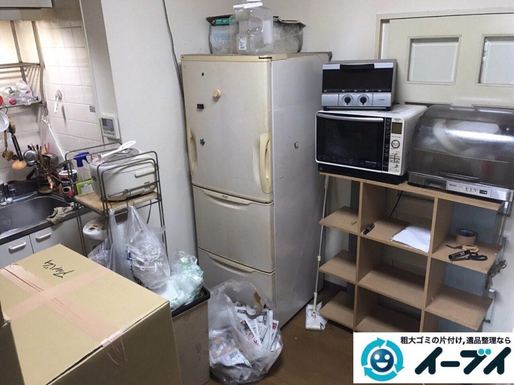 2017年11月27日大阪府大阪市生野区で食器棚や生活用品の粗大ゴミの不用品回収をしました。写真3