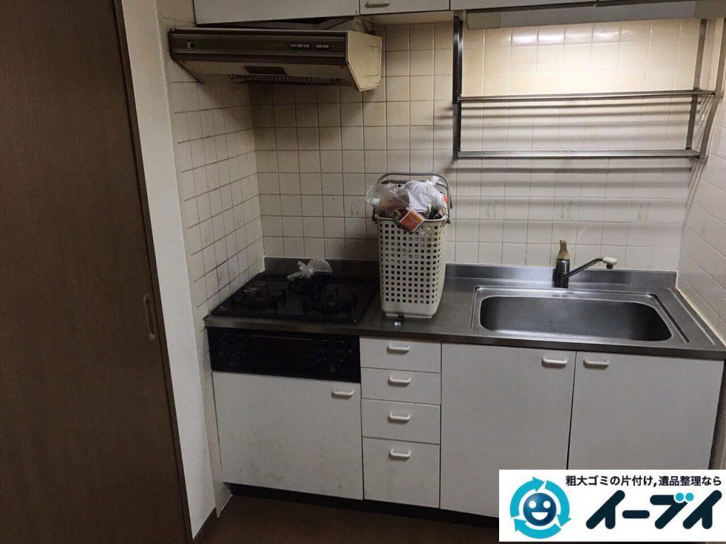 2017年11月27日大阪府大阪市生野区で食器棚や生活用品の粗大ゴミの不用品回収をしました。写真2