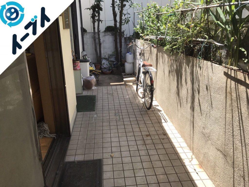 2017年11月29日大阪府柏原市で庭の植木や廃材の不用品回収をしました【2日目】写真3
