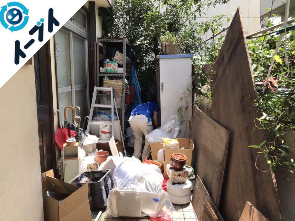 2017年11月29日大阪府柏原市で庭の植木や廃材の不用品回収をしました【2日目】写真2