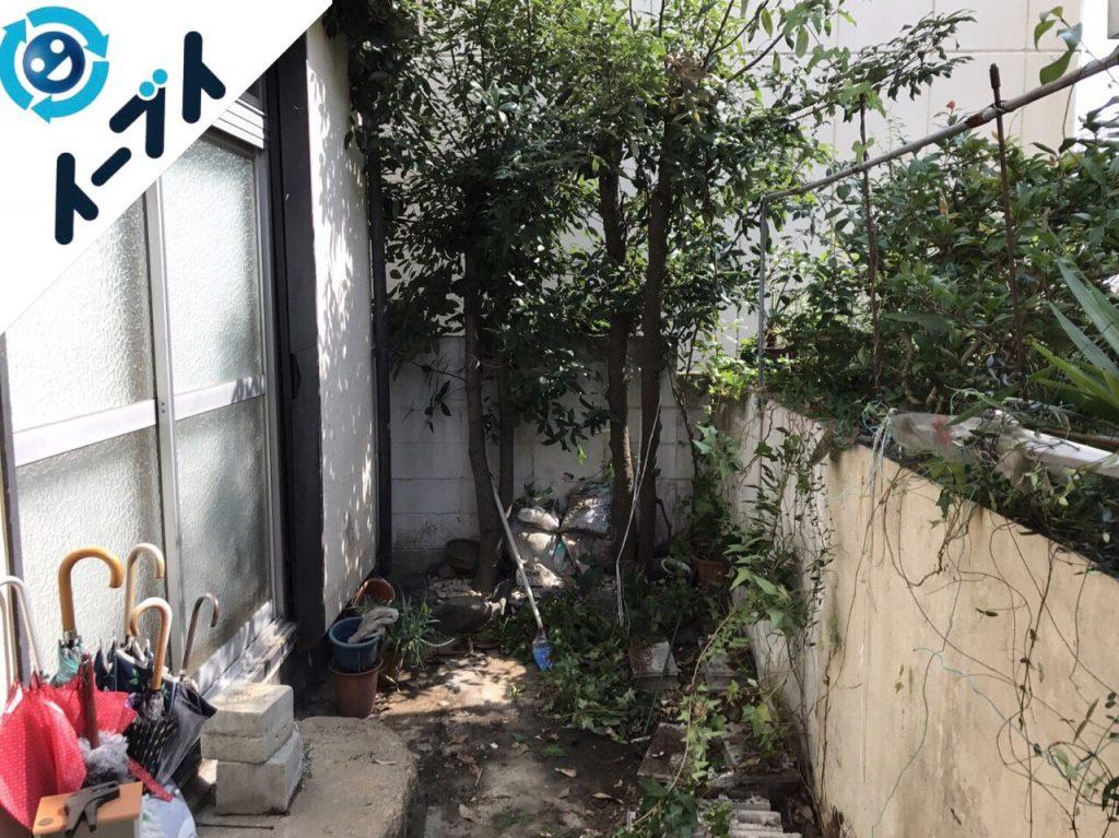 2017年11月29日大阪府柏原市で庭の植木や廃材の不用品回収をしました【2日目】写真7