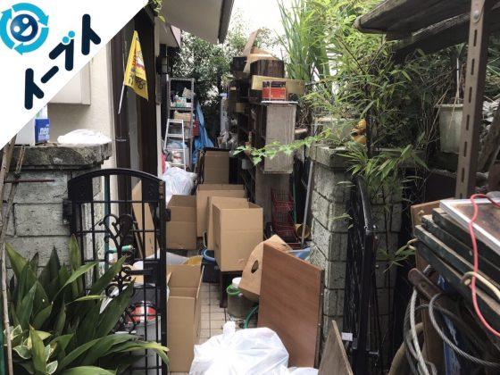 2017年11月17日大阪府柏原市で庭の物置や植木鉢などの不用品回収をしました【1日目】写真5