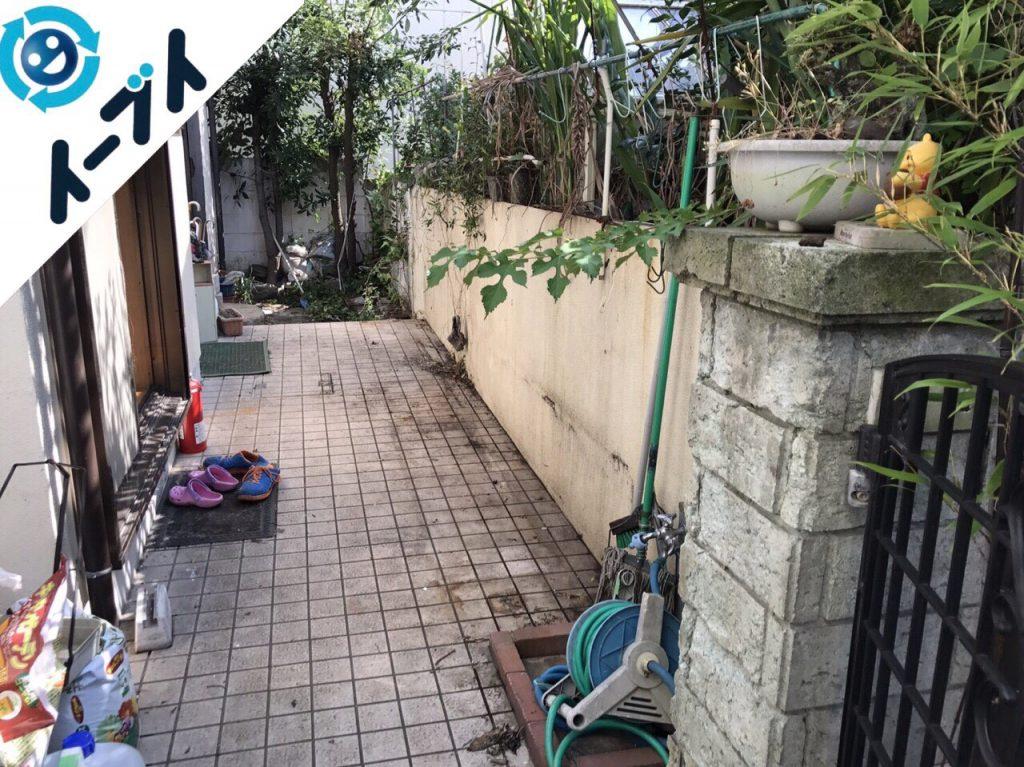 2017年11月17日大阪府柏原市で庭の物置や植木鉢などの不用品回収をしました【1日目】写真4