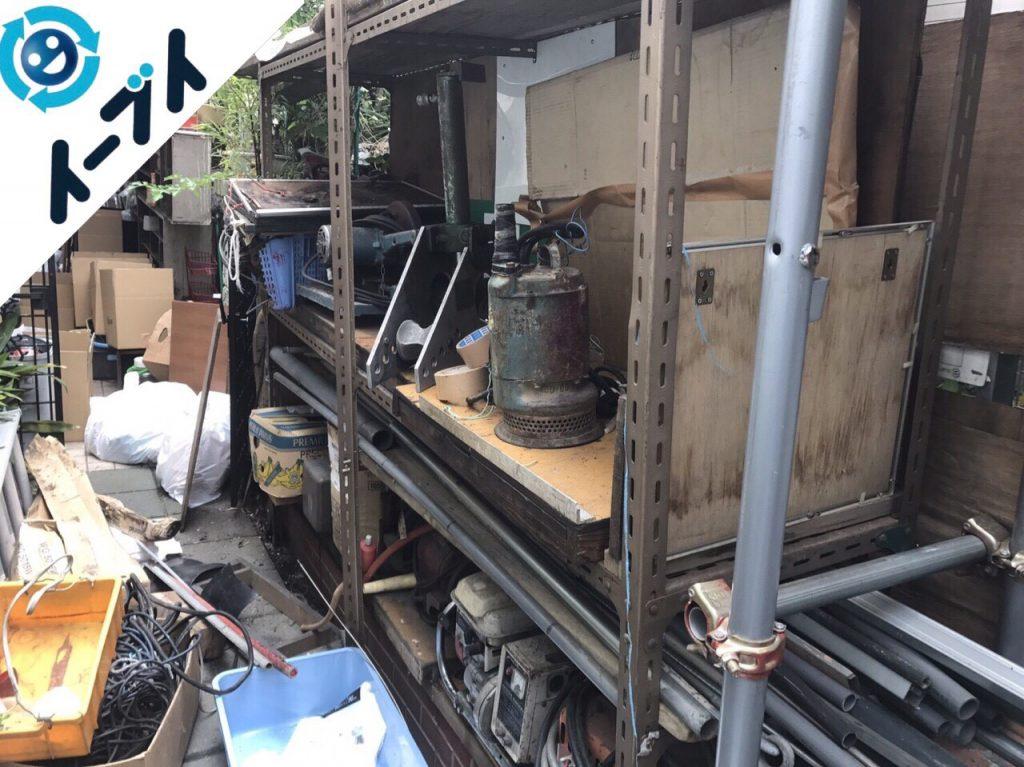 2017年11月17日大阪府柏原市で庭の物置や植木鉢などの不用品回収をしました【1日目】写真3