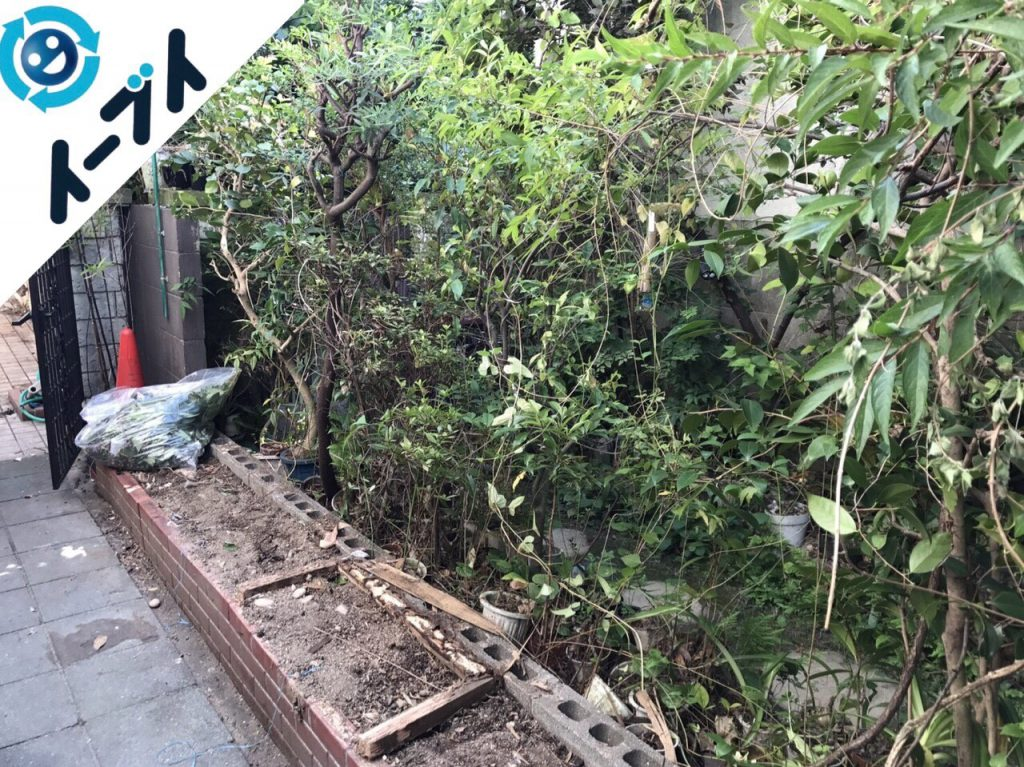 2017年11月17日大阪府柏原市で庭の物置や植木鉢などの不用品回収をしました【1日目】写真2