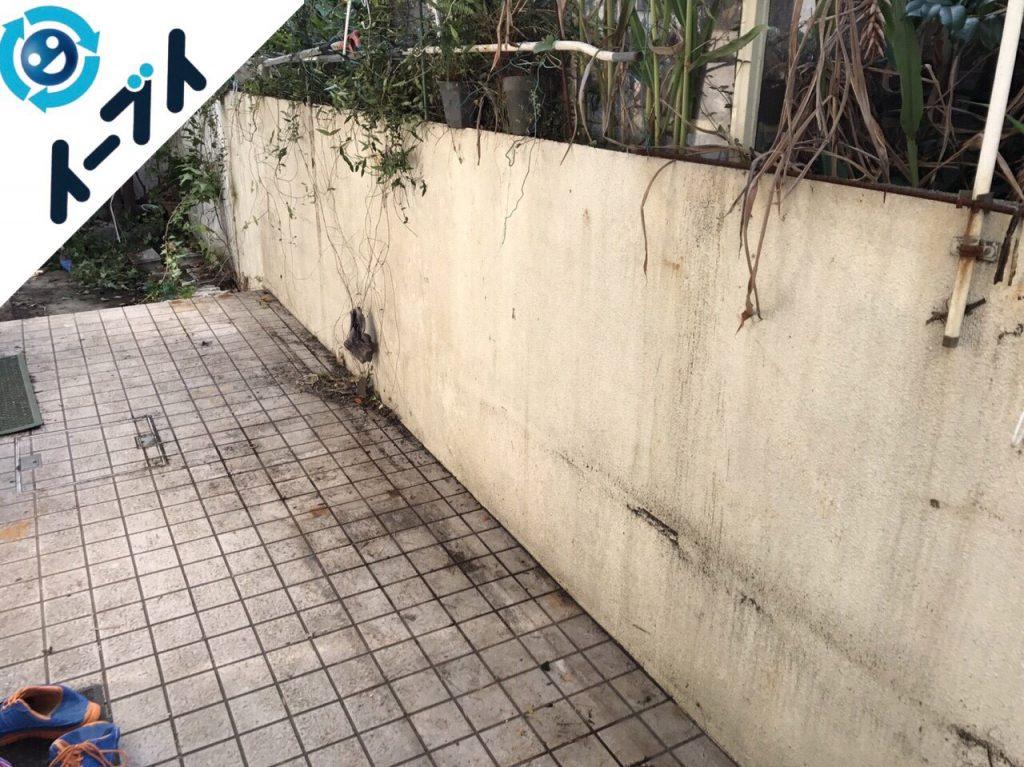 2017年11月29日大阪府柏原市で庭の植木や廃材の不用品回収をしました【2日目】写真5