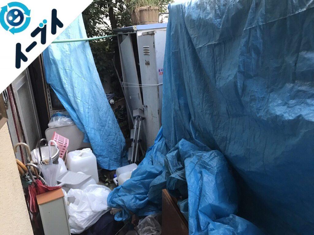 2017年11月29日大阪府柏原市で庭の植木や廃材の不用品回収をしました【2日目】写真4