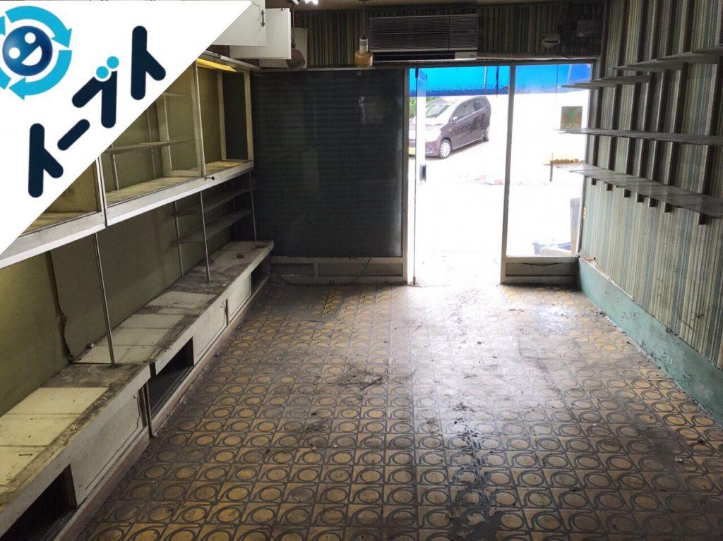 2017年11月8日大阪府堺市中区で店舗のガラス棚や古くなった部活用品の片付け【2日目】写真6