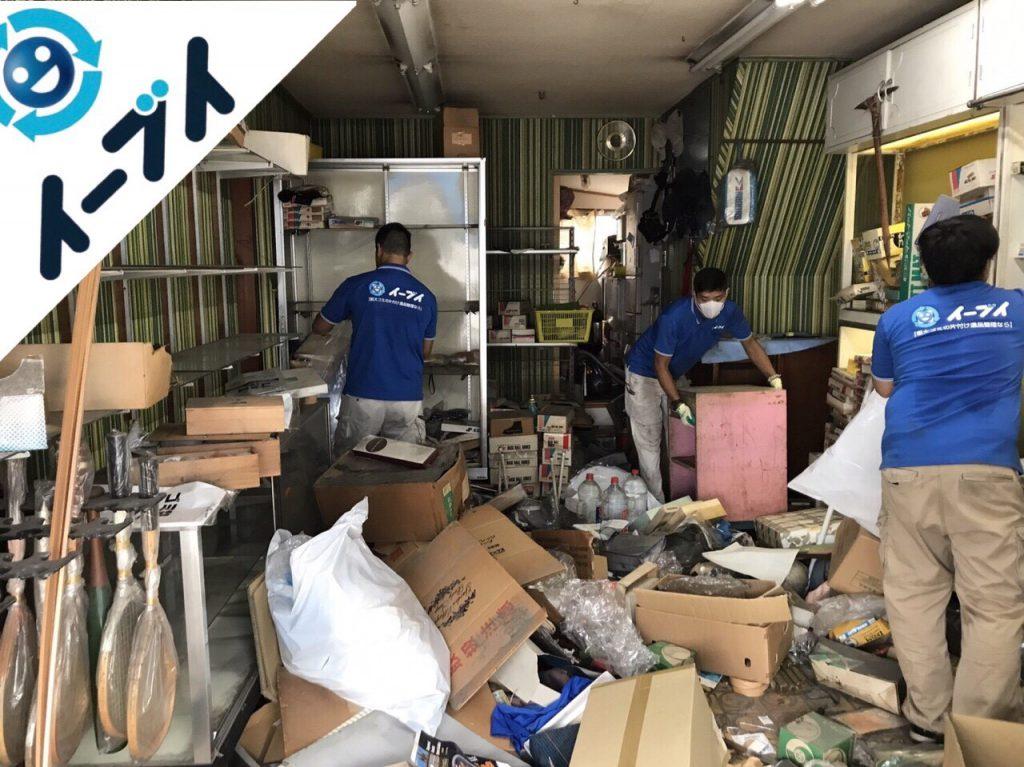2017年11月8日大阪府堺市中区で店舗のガラス棚や古くなった部活用品の片付け【2日目】写真3
