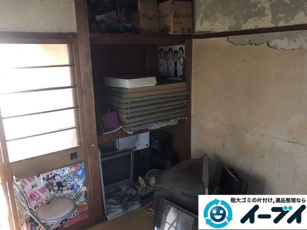 2017年12月3日大阪府豊中市で遺品整理に伴う家具や生活用品の粗大ゴミの片付けをしました。写真6